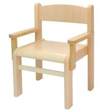Children's Furniture One Children's Chair with Armrest Natural Varnish
