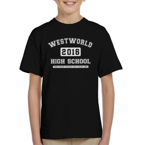 Westworld High School Varsity Text Kid's T-Shirt
