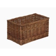 Double Steamed Open Wicker Storage Basket Medium