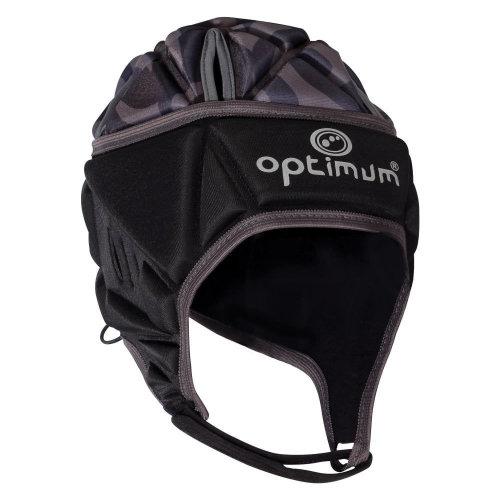 Optimum Razor Adult Rugby Headguard Scrum Cap Black/Silver