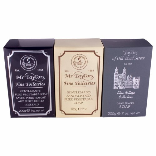Taylor of Old Bond Street Triple Pack of Mixed Soaps 200g each