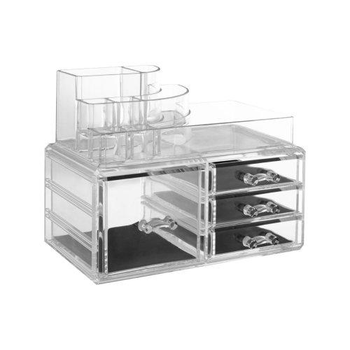 8 Compartment Cosmetics Organiser