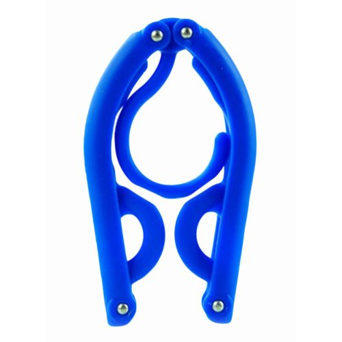 Foldable Stretchable Hanger Easy To Carry For Travel-Blue
