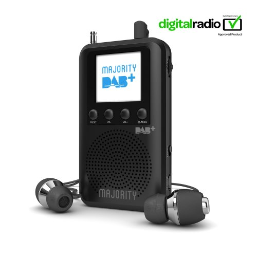 Majority Grantchester Portable DAB/DAB+/FM Digital Radio with External Built-in Speaker, Rechargeable 20+ Hours Playback, Personal Compact,...