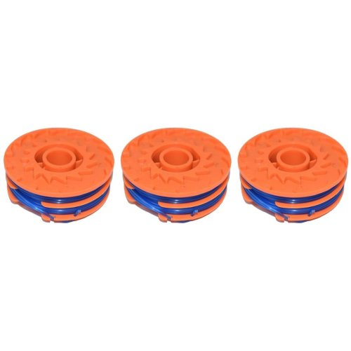 3 x Spool & Line For Worx WG106 Strimmers 5 Metre
