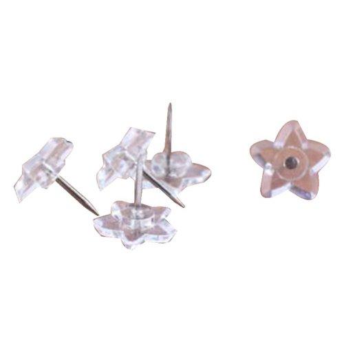 50 Pcs Creative Pushpin Push Pin Thumbtack Office Supplies, Transparent stars