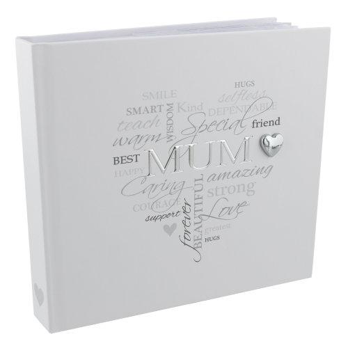 "Heartfelt Moments Photo Album 4""x6"" Foil Wording - Mum"