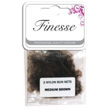 Medium Brown Finesse Bun Nets -  finesse bun nets medium brown