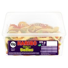 Haribo Yellow Bellies Sweets Tub 30's