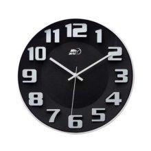 [Black-1] 14 Inch Modern Wall Clock Decorative Silent Non-Ticking Wall Clock