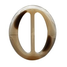 Resin Oval Scarf Clip Ring Elegant Simple Design 5pcs