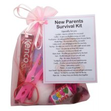 New Parents Survival Kit (Pink) - A sweet gift for parents-to-be / baby shower