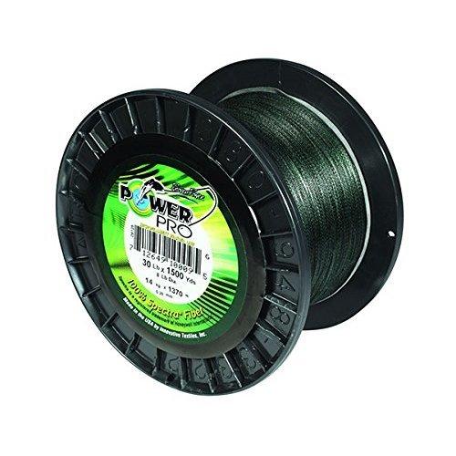 PowerPro Power Pro 21100150500E Braided Spectra Fiber Fishing Line, 15 Lb/500 yd, Moss Green