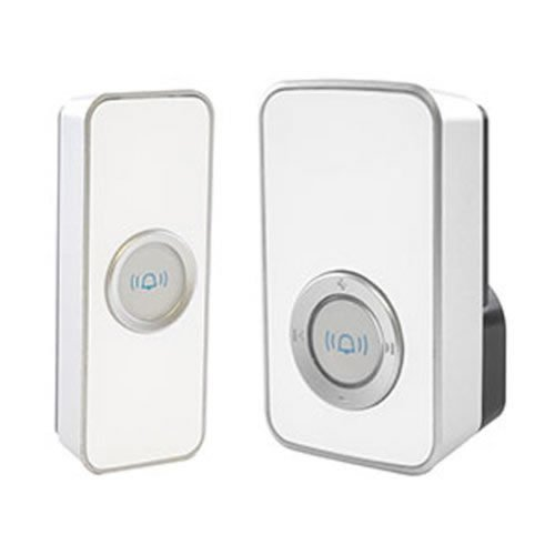 Lloytron 32 Melody Mains Plug-In Wireless Door Chime with MiPs - White (B7505WH)