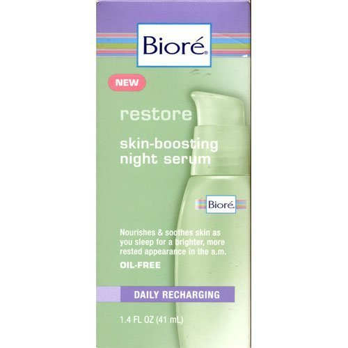 Biore Skin Boosting Night Serum 1 4 fl oz 41 ml