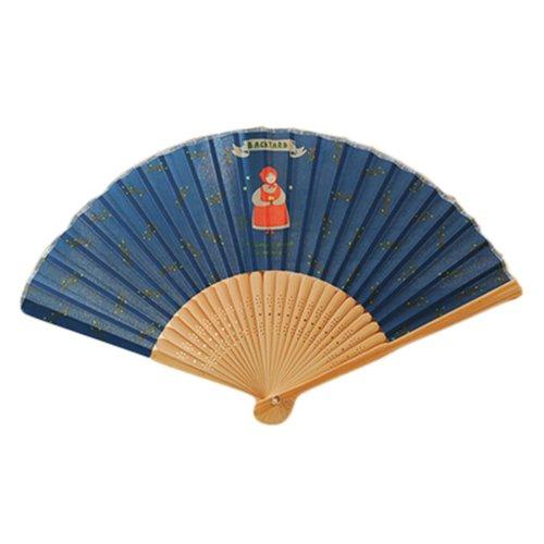 Creative Country Style Folding Fan Summer Fan Blue