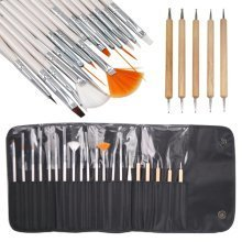 LaRoc 20pc Nail Design Brush Kit | Manicure Art Tool Set