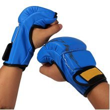 Men Training Sparring Grappling Boxing Fight Gloves Punch Leather Mitts Gloves