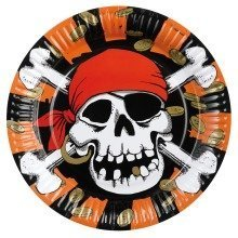 8 Jolly Roger Paper Plates