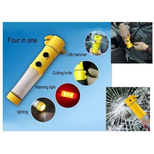 Goodyear 3 in 1 Emergency Beacon / Torch + Windscreen Hammer + Seat Belt Cutter