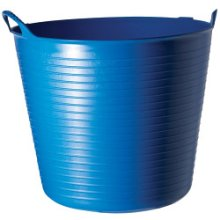 14l Blue Durable & Flexible Tub - Bucket Trug Small Horse Feed Storage Diy Pots -  flexible tub bucket trug small horse feed storage diy pots plastic