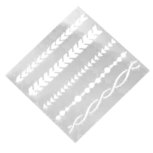 Painting Drawing Drawing Planner Stencil Template Ruler White 6 Pcs