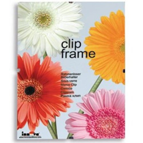 Innova Editions 50 x 75 cm/ 30 x 20-inch Plastic Safety Glass Frame for Picture or Poster with Clips and White Edged Backing Board