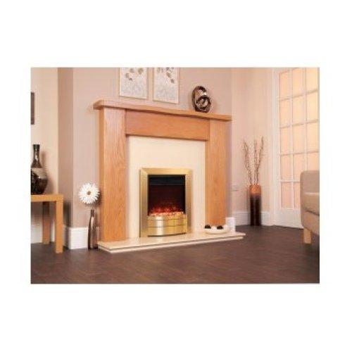 Designer Fire Electric - Celsi Electriflame XD Essence Satin Brass 16''