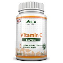 Vitamin C 1000mg 180 Tablets (6 Month's Supply) by Nu U Nutrition