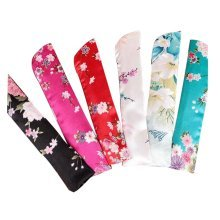 Set Of 5 Silk Fan Cover Chinese Style Fan Bag Random Color