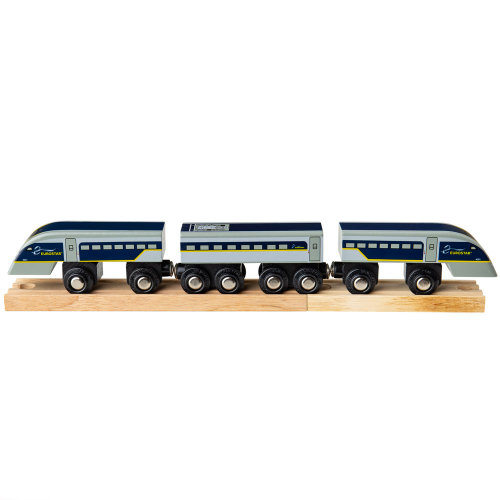 Bigjigs Rail Wooden Eurostar Train - Other Major Wooden Rail Brands are Compatible