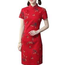 Elegant Chinese Dress Qipao Dresses Cheongsam Women Clothing Skirt XXL-03