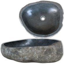 vidaXL Basin River Stone Oval 30 cm