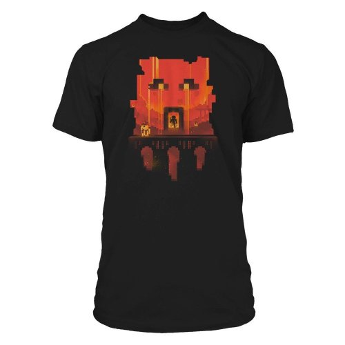 Boys Minecraft T-shirt | Official | GLIMPSE | Youth | 5-6 | BLACK