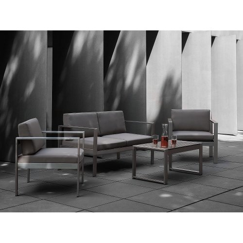Garden Sofa Set 4 Seater - Grey SALERNO