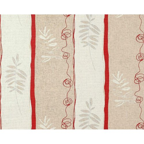 EDEM 685-94 non-woven wallpaper floral wide stripes beige red silver   114 sq ft
