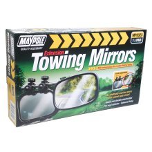 Pair Of Convex Caravan Mirrors - Maypole Towing 2 Mp8323 Extension -  convex maypole caravan mirrors towing 2 mp8323 extension pair