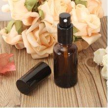 30ml Amber Glass Atomizer Refillable Bottle Spray Vial For Essential Oil Perfume Toner Bottles