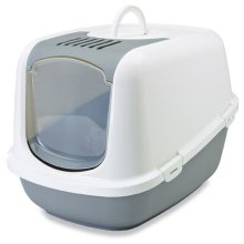 Nestor Jumbo Cat Toilet White/cold Grey 66.5x48.5x46.5cm (Pack of 3)