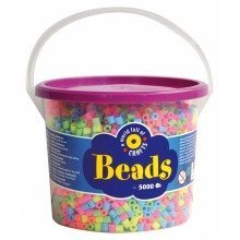 Pbx2455962 - Playbox - Beads in Bucket (pastel Mix) - 5000 Pcs