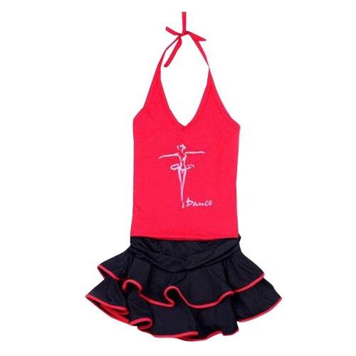 Red Baby Vest Dance Skirt Latin/Sports Dress