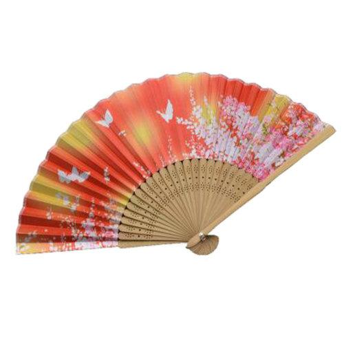 Oriental Beautiful Folding Hand Fan Handheld Fan Perfect Gift , C