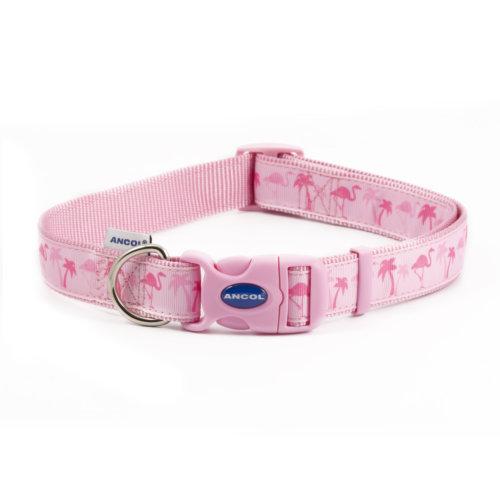 Fashion Adjustable Nylon Collar Flamingo 45-70cm