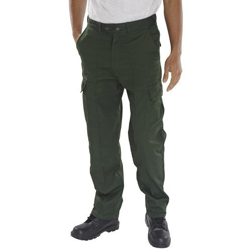 Click PCTHWBG30 Super Polycotton Work Trousers Bottle Green 30""