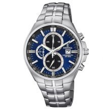 Festina F6862/3 Mens Chronograph Blue Dial Stainless Steel Watch