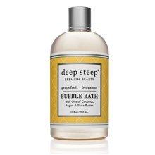 Deep Steep Bubble Bath, Grapefruit Bergamot, 17.5 Ounce