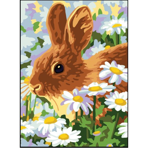 Collection D'art Needlepoint Printed Tapestry Canvas 22X30cm-Rabbit