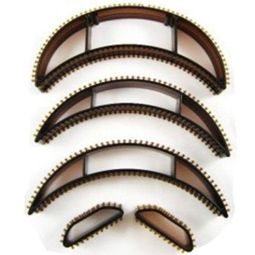 Hair Volumising Clip Inserts -  hair volumising 5 inserts bumpit bumpits brown x lift