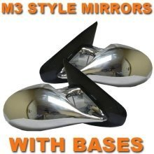 Chrome M3 Style Pair Manual Mirrors  Bmw E30 3 Series 83-91