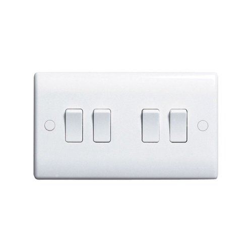 SWITCH 4 GANG 2 WAY 844 By BG & Best Price Square